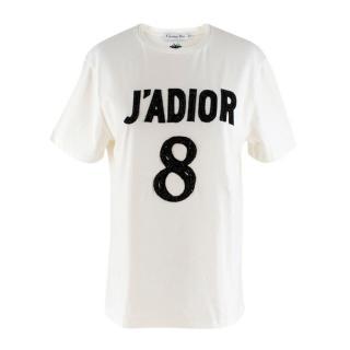 Dior Black Embellished J'adior 8 T-shirt