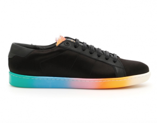 Saint Laurent Rainbow Satin Sneakers
