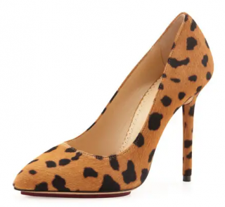 Charlotte Olympia Monroe Animal-Print Calf Hair Pump