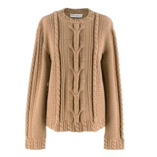 JW Anderson Cable Knit Virgin Wool Desert Jumper