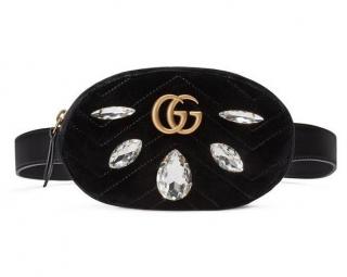 Gucci velvet black limited edition belt bag