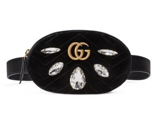 Gucci velvet black limited edition belt bag