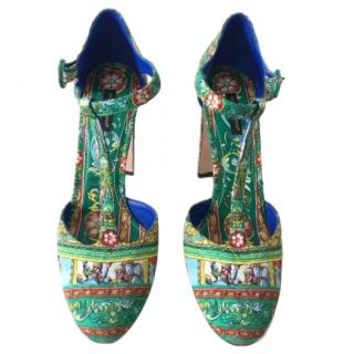 Dolce & Gabbana Limited Edition Carretto Green Pumps
