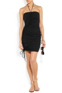 Lanvin Black Stretch Halterneck Beach Dress