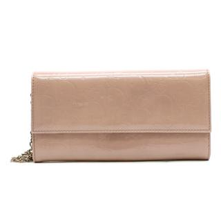 Christian Dior Diorissimo Patent Leather Chain Wallet