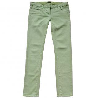 Balmain Pale Green Skinny Jeans