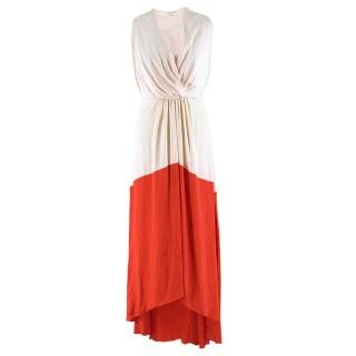 Vionnet Blush and Coral Sateen Gown