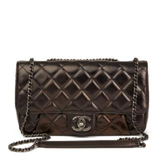 Chanel Quilted Leather Iridescent Single Flap Bag