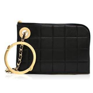 Chanel Black Timeless Handcuff Leather Clutch