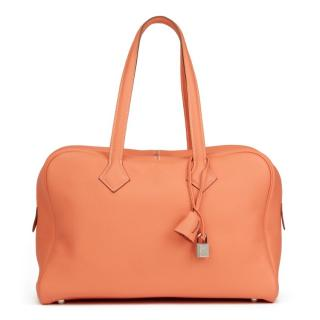 Hermes Clemence Leather Crevette Victoria II