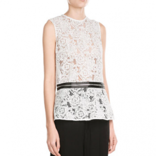 McQ Lace Peplum Top with Zipper