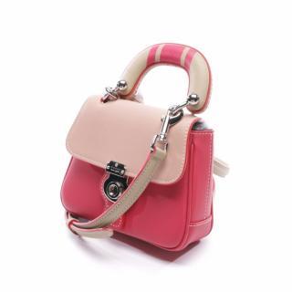Burberry DK88 Raspberry Calfskin shoulder tote bag