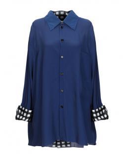 Marni Blue Silk Blend Blouse