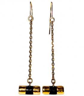 Yves Saint Laurent Chain Drop Pendant Earrings