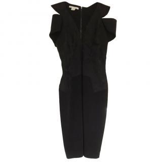 Antonio Berardi  Black Silk Off Shoulder Dress