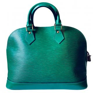 Louis Vuitton Vintage Green Epi Leather Alma PM Bag