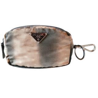 Prada Moire Luce Visone Necessaire Bag