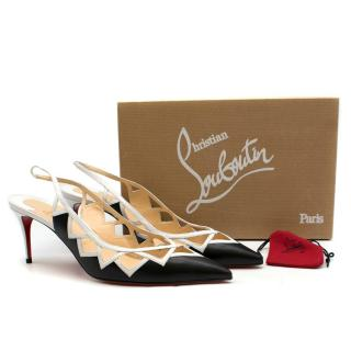 Christian Louboutin Black Leather Stellare 70 Kid Pumps