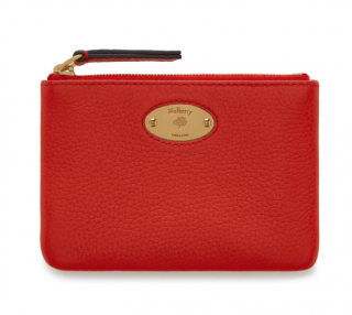 Mulberry Hibiscus Red Coin Pouch