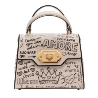 Dolce & Gabbana Graffiti Print Welcome Top Handle Bag