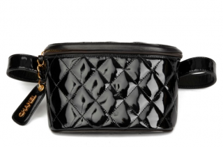 Chanel Vintage Quilted Patent Leather Timeless Belt Bag