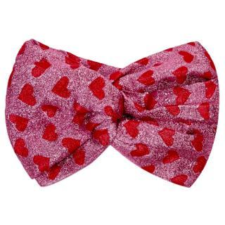 Gucci pink lurex heart headband