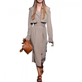 Michael Kors Collection Silk Georgette Trench Dress
