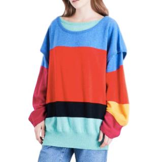 Loewe colour-block wool and cashmere-blend sweater