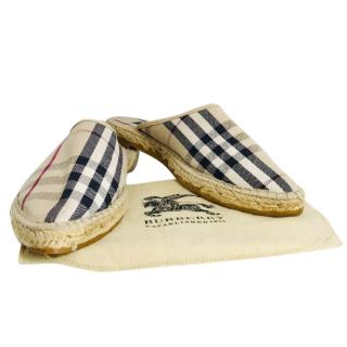 Burberry Nova Check Mules