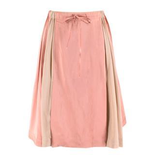 Jonathan Saunders Nude & Pink Satin Poppy Skirt