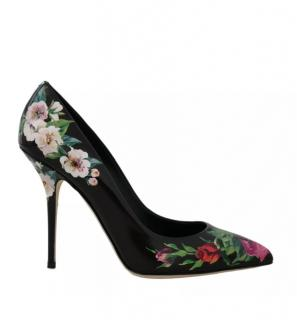 Dolce & Gabbana Black Floral Pumps