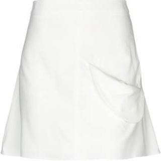 JW Anderson draped-pocket white mini A-line skirt