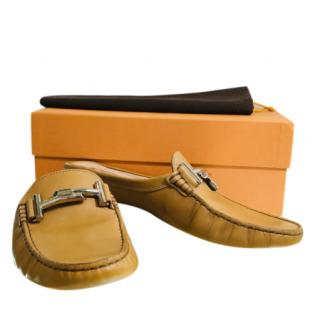 Tod's leather backless loafers