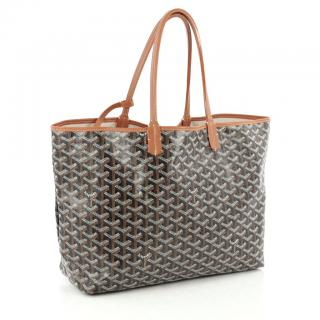 Goyard St Louis brown tote