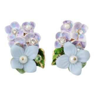 Dolce & Gabbana Hydrangea clip-on earrings