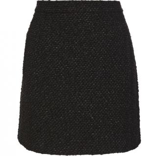 Balenciaga black tweed mini skirt