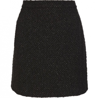 Balenciaga black tweed mini skirt