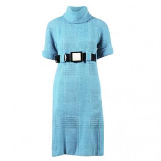 Chanel roll-neck tweed dress