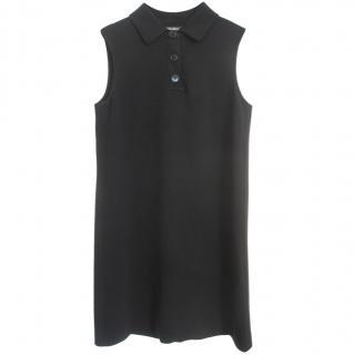 S MaxMara black sleeveless polo dress