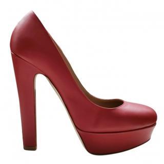 Valentino red platform pumps
