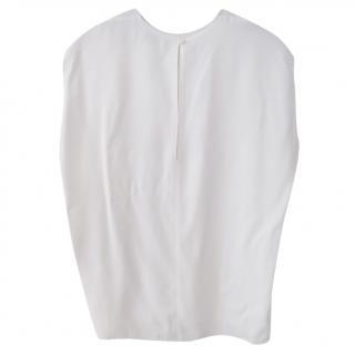 Raey raw-edge white top
