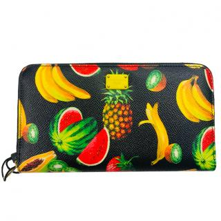 Dolce & Gabbana Fruit-print zip-around continental wallet