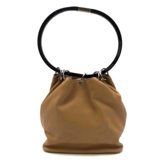 Gucci hoop-handle leather bucket bag