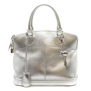 Louis Vuitton Limited Edition Silver Suhali Leather Lockit PM