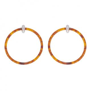 Balenciaga Acrylic hoop Tortoiseshell-effect large earrings