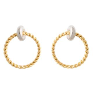 Balenciaga Twisted Hoop Earrings
