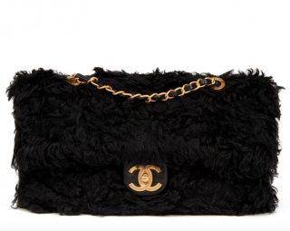 Chanel Black Fantasy Fur Flap Bag