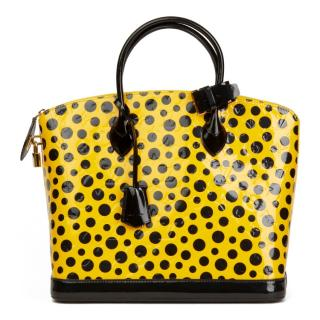 Louis Vuitton Yellow Vernis Dots Infinity Yayoi Kusama Lockit MM