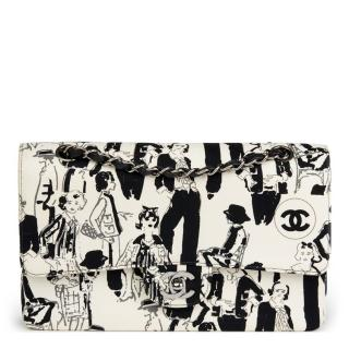 Chanel Karl Lagerfeld Sketches Double Flap Bag