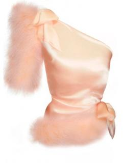 Mauguy De Chadirac one-shoulder feathered top